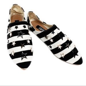 🌴NEW Colors of California Striped Slip On Flats 6